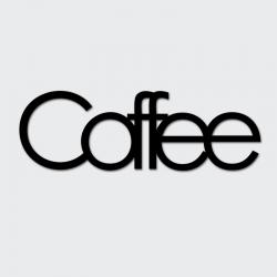 Napis na ścianę COFFEE czarny - DekoSign
