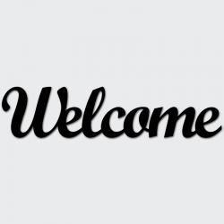 Napis na ścianę WELCOME czarny - DekoSign