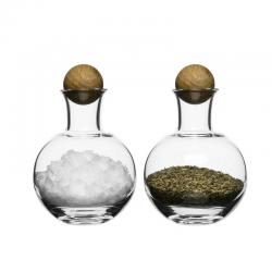Oval Oak — zestaw dwóch buteleczek na przyprawy - SAGAFORM