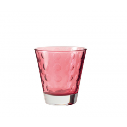 Szklaneczka 220 ml OPTIC, rubinowa - Leonardo
