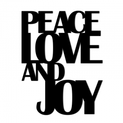 Napis na ścianę PEACE LOVE AND JOY - DekoSign