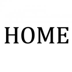 Napis na ścianę HOME osobne litery czarny - DekoSign