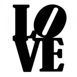 Napis na ścianę LOVE czarny - DekoSign