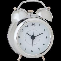 Budzik Wake Up Silver (9 cm) - NEXTIME