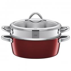 Garnek do gotowania na parze Vitaliano Rosso 5,9 L - SILIT