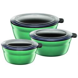Zestaw 3 mis Fresh Bowls Ocean Green - SILIT