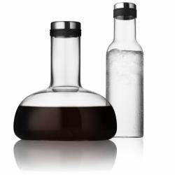 Zestaw 2 karafek - oddychająca do wina i do wody - Menu